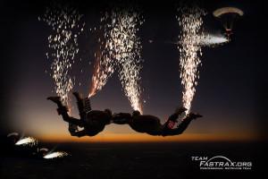 skydive fireworks