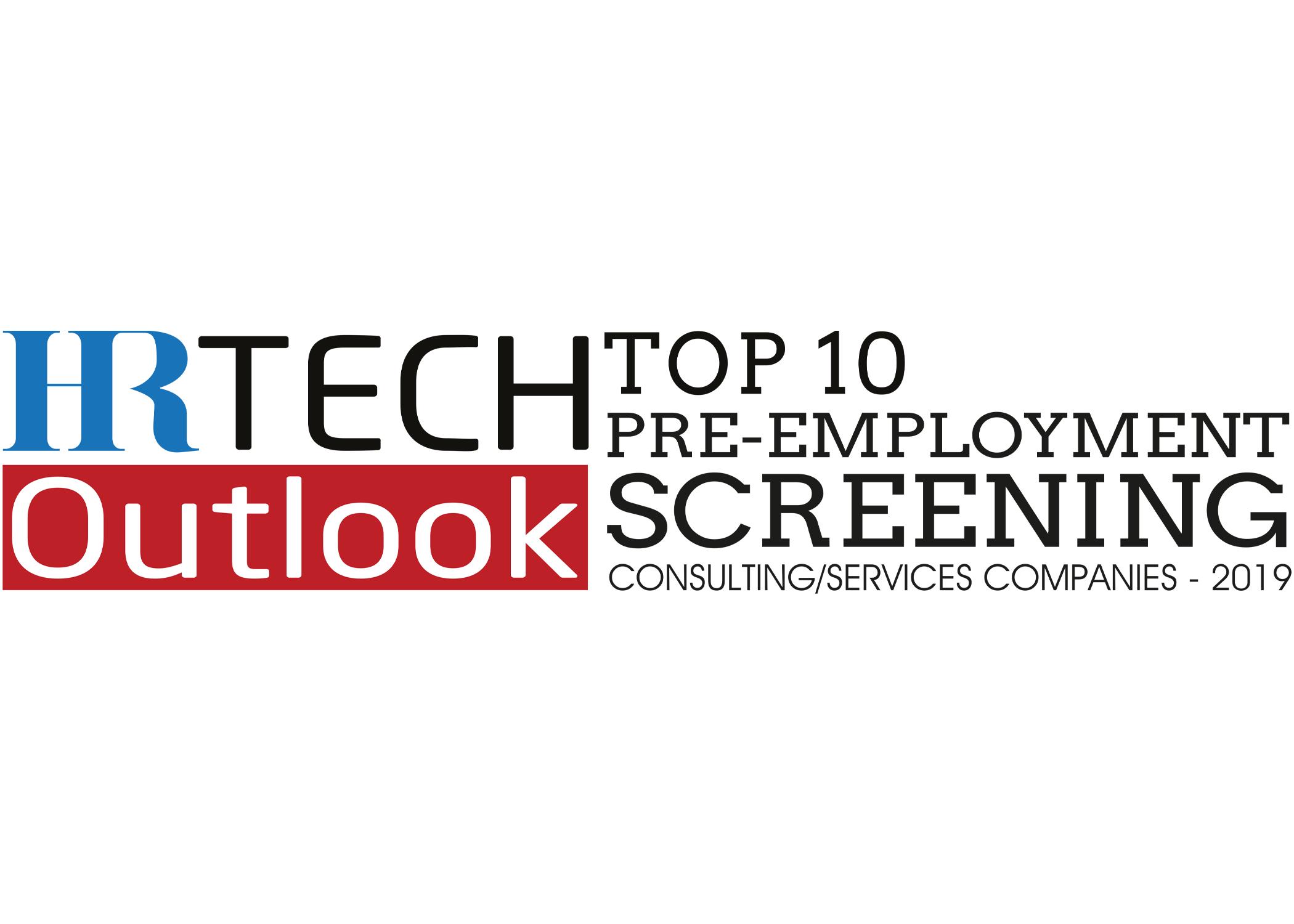 Top Ten Pre-Employment Screening Companies 2019