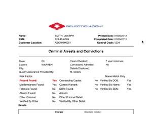 state criminal background check selection com